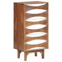 vidaXL Scrin cu sertare, 44 x 35 x 90 cm, lemn masiv de acacia