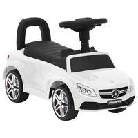 vidaXL Mașinuță pentru pași Mercedes-Benz C63, alb