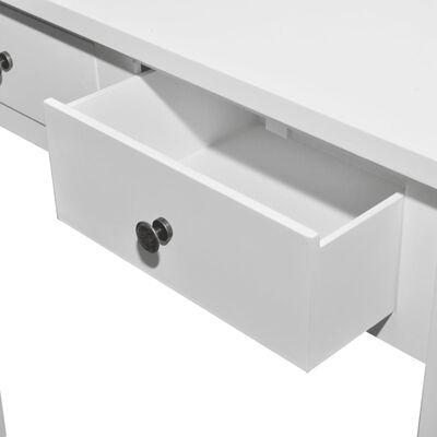 vidaXL Masă de toaletă tip consolă cu două sertare, alb