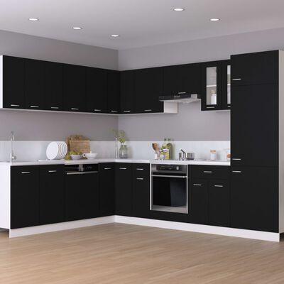 vidaXL Dulap inferior de colț, negru, 75,5 x 75,5 x 80,5 cm, PAL