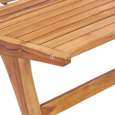 vidaXL Scaun de grădină, lemn masiv de tec