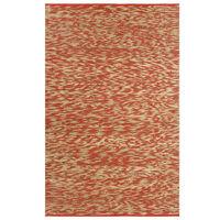 vidaXL Covor manual, roșu și natural, 160x230 cm, iută