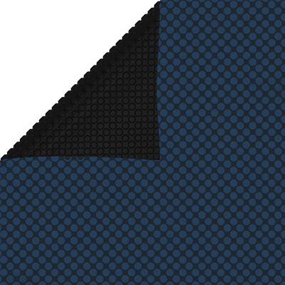 vidaXL Folie solară piscină, plutitoare, negru/albastru 300x200 cm PE