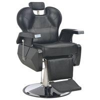 vidaXL Scaun frizer, negru, 72 x 68 x 98 cm, piele ecologică