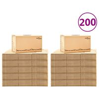 vidaXL Cutii pentru mutare din carton XXL 200 buc. 60 x 33 x 34 cm