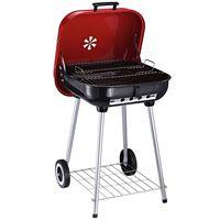 Barbecue Cu Carbon Bbq Grill Cu Capac Si Roti, 45x47.5x70cm