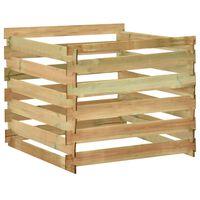 vidaXL Compostor de grădină din șipci 100x100x80 cm lemn de pin tratat