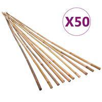 vidaXL Bețe de bambus de grădină, 50 buc., 150 cm