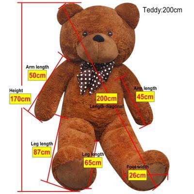 vidaXL Ursuleț de pluș de jucărie, maro, 170 cm