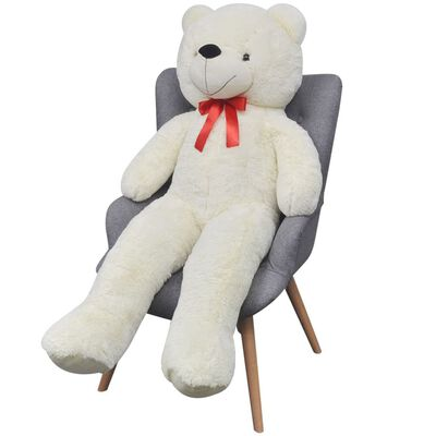 vidaXL Ursuleț de pluș de jucărie, alb, 170 cm