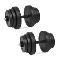 vidaXL Set haltere 18 buc., 40 kg