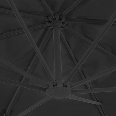 vidaXL Umbrelă suspendată cu stâlp din aluminiu, antracit, 400x300 cm