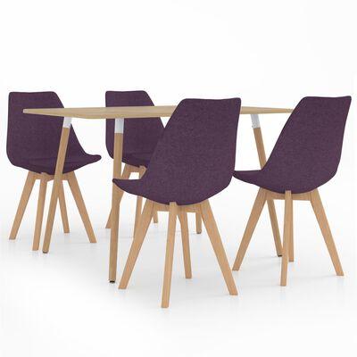 vidaXL Set mobilier de bucătărie, 5 piese, violet