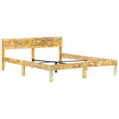 vidaXL Cadru de pat, 180 x 200 cm, lemn masiv reciclat
