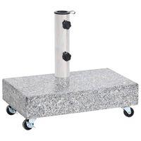 vidaXL Bază pentru umbrelă, gri deschis, 45x25x8,3 cm, granit