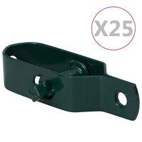 vidaXL Dispozitiv tensionare sârmă gard, 25 buc., verde, 90 mm, oțel