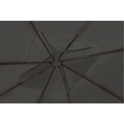 vidaXL Pavilion cu acoperiș, gri închis, 3 x 4 m