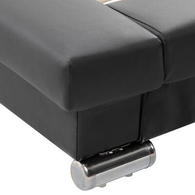 vidaXL Cadru de pat, negru, 200 x 120 cm, piele artificială