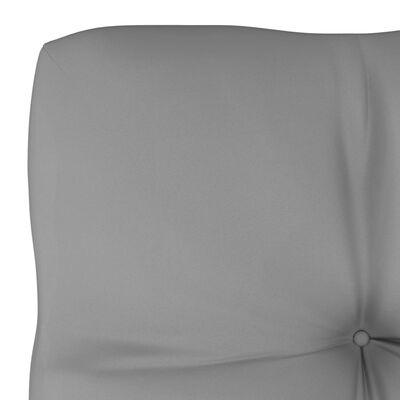 vidaXL Pernă pentru canapea din paleți, gri, 58 x 58 x 10 cm