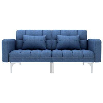 vidaXL Canapea extensibilă, albastru, material textil