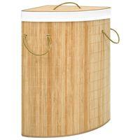 vidaXL Coș de rufe din bambus de colț, 60 L