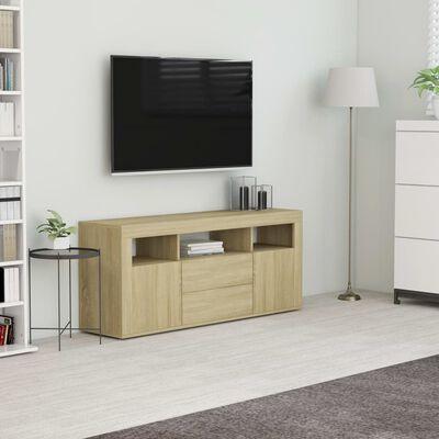 vidaXL Comodă TV, stejar Sonoma, 120 x 30 x 50 cm, PAL