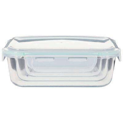 vidaXL Recipiente de depozitare din sticlă pentru alimente, 4 piese