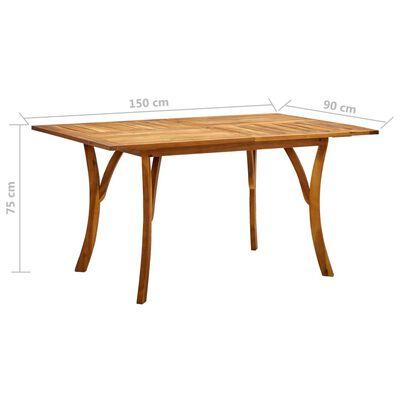 vidaXL Set de masă pentru grădină, 5 piese, gri