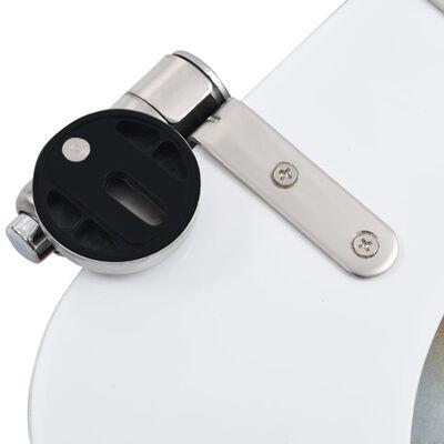 vidaXL Capac WC cu închidere silențioasă, MDF, design pietriș