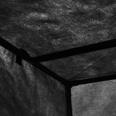 vidaXL Șifoniere, 2 buc., negru, 75 x 50 x 160 cm