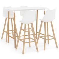vidaXL Set mobilier de bar, 7 piese, gri