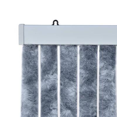 vidaXL Perdea pentru insecte, argintiu, 56x185 cm, Chenille
