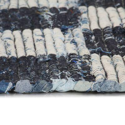 vidaXL Covor Chindi țesut manual, albastru, 200x290 cm, denim