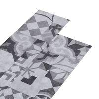 vidaXL Plăci de pardoseală, model gri, 4,46 m², PVC, 3 mm