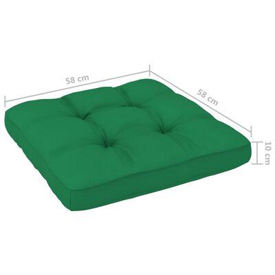 vidaXL Set mobilier paleți cu perne, 6 piese, lemn de pin verde tratat