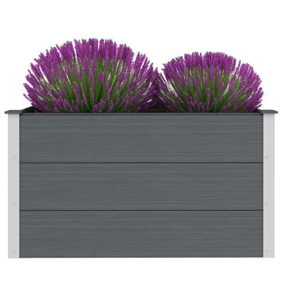 vidaXL Strat înălțat de grădină, gri, 100 x 50 x 54 cm, WPC