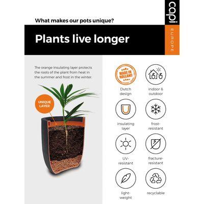 Capi Vas plante Urban Tube elegant, mic, ivoar, 46 x 58 cm, KT783