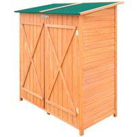 vidaxl Magazie de unelte pentru grădină Șopron din lemn Depozit mare