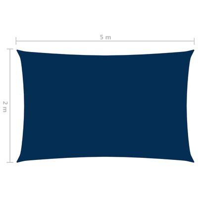 vidaXL Parasolar, albastru, 2x5 m, țesătură oxford, dreptunghiular