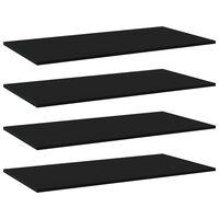 vidaXL Plăci bibliotecă, 4 buc., negru, 100 x 50 x 1,5 cm, PAL