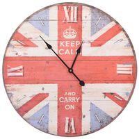 vidaXL Ceas de perete vintage UK, 60 cm