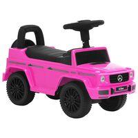 vidaXL Mașinuță pentru pași Mercedes-Benz G63, roz
