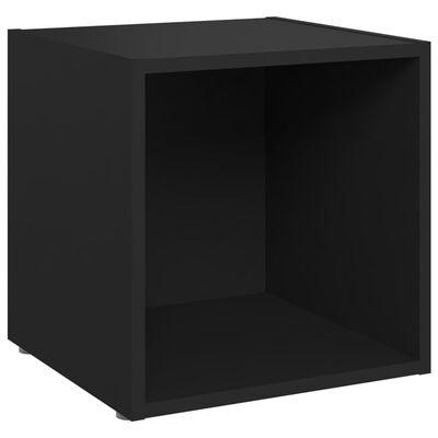 vidaXL Set de dulapuri TV, 3 piese, negru, PAL