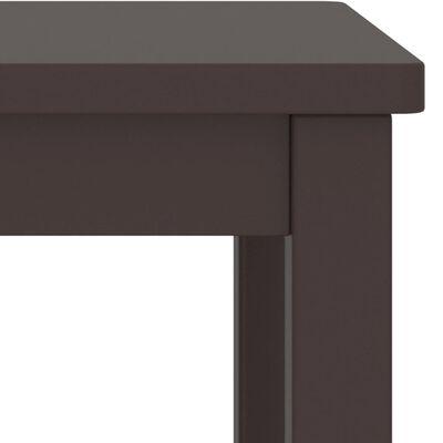 vidaXL Noptiere, 2 buc., maro închis, 35 x 30 x 47 cm, lemn masiv de pin