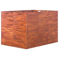 vidaXL Strat înălțat de grădină, 150 x 100 x 100 cm, lemn de acacia
