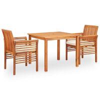 vidaXL Set mobilier de exterior cu perne 5 piese lemn masiv de acacia