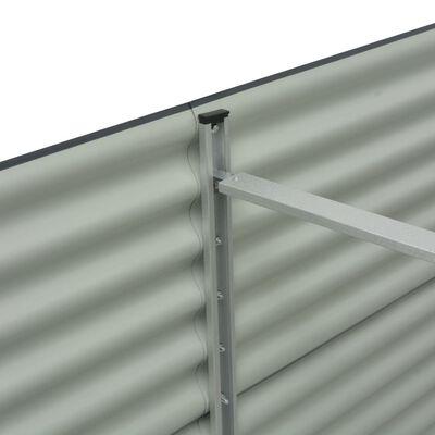 vidaXL Strat înălțat de grădină, gri, 400x80x81 cm, oțel galvanizat