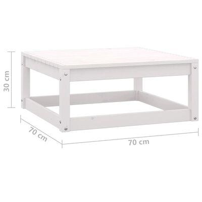 vidaXL Set mobilier de grădină cu perne, 9 piese, alb, lemn masiv pin
