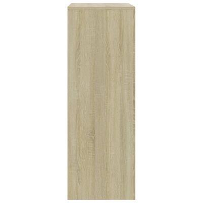 vidaXL Servantă cu 6 sertare, alb și stejar Sonoma, 50x34x96 cm, PAL
