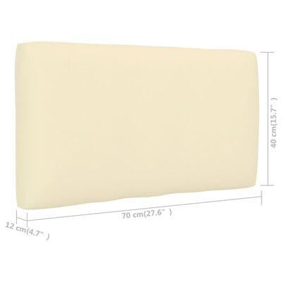 vidaXL Pernă canapea din paleți, crem, 70 x 40 x 12 cm